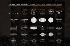 VINTAGE BUNDLE - 30 Vector Logos made in Adobe Illustrator with Editable Text. All fonts that were used in the creation of these badges are free and editable, links are provided in the download.