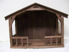 """Purty stable - 20"""" W x 8"""" D x 14"""" H, made of walnut"""