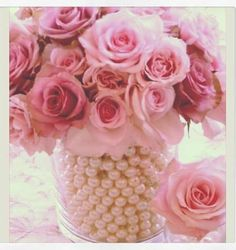 Such a beautiful and simple DIY. #roses #pearls