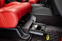 Bestop's new Locking Under Seat Storage Box for JK securely locks up valuables, and mounts out-of-sight conveniently beneath the passenger's seat.