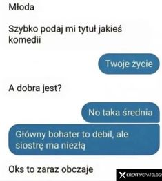Miej dystans   Czy to piątek czy sobota Justi… #humor # Humor # amreading # books # wattpad Wtf Funny, Funny Cute, Hilarious, Funny Images, Funny Pictures, Polish Memes, Funny Mems, True Memes, Funny Messages