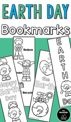 Earth Earth day bookmarks/ Earth day activity/ Earth day gift - Have your students color and cut these bookmarks for Earth Day. 1 Page- 4 Bookmarks This is part of my Earth Day Bundle Earth Day Poems, Earth Day Coloring Pages, Earth Day Crafts, Earth Day Activities, Bookmarks Kids, Grammar Lessons, Happy Earth, Day Book, Online Programs