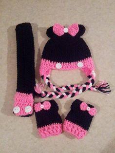 Crochet Minnie set https://www.facebook.com/TiffanyVictoriasCreations  https://www.etsy.com/shop/TVictoriasCreations