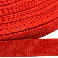 Лента эластичная 20мм, плотная (резинка), красная, ЛЭ-20-Г