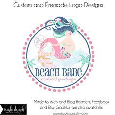 Premade de Premade Logo sirena redondo Logo Logo por MLAdesigns