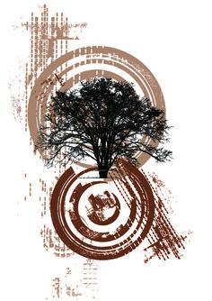 Дерево, векторный рисунок
