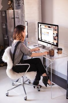 Scandi style office space via Cheetah is the new black.