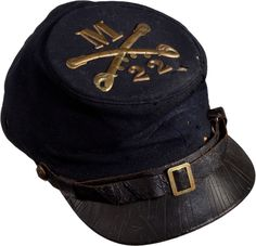 Forage Cap with Original Insignia Identified to Ruden E. Wheeler Co M 22nd New York Cavalry