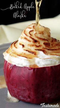 Once you've tried baked Alaska in a sweet apple, you can't go back to the original.