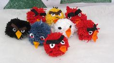 Tupsutyönä angry bird, 1 lk Diy Crafts For School, Diy And Crafts, Arts And Crafts, Yarn Monsters, Diy For Kids, Crafts For Kids, Monster Dolls, Textile Fabrics, Angry Birds