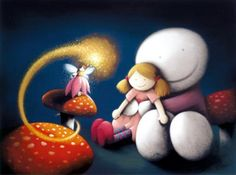 Make A Wish by Doug Hyde - Contemporary Paintings & fine art pictures available in our gallery - Free delivery on all orders over Make A Wish, How To Make, Going For Gold, Heart Art, Gingerbread Man, New Artists, Hyde, Contemporary Paintings, Cute Art