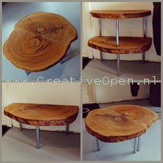 #treetrunk #woodinspiration #wood #treetable #woodentable #boomstamtafel #salontafel #interieurdesign #alberta #designmeubels #natuurlijk #natuur #interieur #eikenhout http://www.creativeopen.nl/product/boomstam-salontafel-eikenhout/