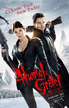 Hansel and Gretel movie poster - classic tale new twist - (released 01/25/2013)  Don't know if I want to watch this?