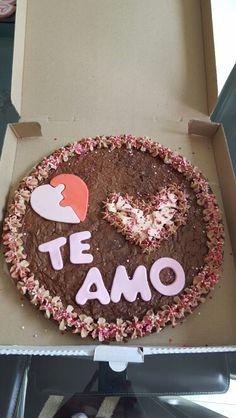 Pizza brownie de Amor