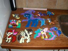 Perler beads MLP collection by rphb on deviantart