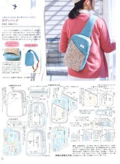Sewing Backpack Pattern Diy Fabrics Ideas For 2019 Best Picture For DIY Backpack men For Your Ta Mochila Tutorial, Diy Backpack, Backpack Camping, Small Backpack, Diy Bags Purses, Backpack Pattern, Sewing Lessons, Bag Patterns To Sew, Denim Bag