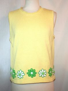 Lilly Pulitzer Yellow Cotton Sweater