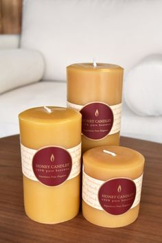Pure and natural Canadian bees wax candles hand poured in the Canadian mountains. Experience the benefits of beeswax candles while enjoying the wonderful atmosphere the candles create. Buy Candles, Pillar Candles, Candels, Paraffin Candles, Candle Wax, Candle Maker, Candlemaking, Eco Friendly House, Burning Candle