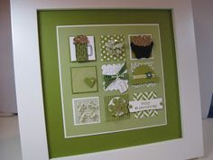 Here's the latest sampler. This one has a St. All squares start with a 1 pu. Scrapbook Paper Crafts, Scrapbook Cards, Scrapbook Frames, St Patricks Day Cards, Saint Patricks, Collage Frames, Collages, Collage Ideas, St Patrick's Day Decorations