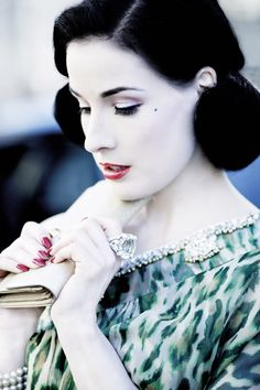 Dita Von Teese love the everything about her. using her style as a base for the runway.