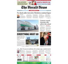 The front page of The Herald News for Saturday, Dec. 14, 2013.