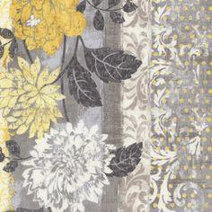 Timeless Treasures House Designer - Ophelia - Ophelia Border Stripe in Grey
