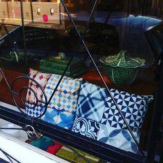 Pura Cal Mosaico cushions in London ! Cushions, Pillows, East London, Lisbon, Instagram Posts, Shopping, Design, Mosaics, Throw Pillows