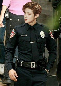 Ok imma go steal some nct merch now. So jaehyun will arrest me. Srsly i would be the baddest bitch in town if he was this hot cop lmao-+ Jaehyun Nct, Winwin, Nct 127, Day6 Sungjin, Valentines For Boys, Jung Jaehyun, Nct Taeyong, Fandoms, Wattpad