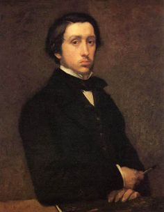 Self-portrait, 1855-56. Edgar Degas (1834-1917). French, associated with Impressionist movement. Portrait recalls Raphael, whom he was a fan of. Production not a result of art commissioning.