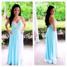 blue prom dress, long prom dress, sweet heart #fashion#promdress#eveningdress#promgowns#cocktaildress
