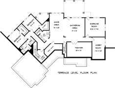 Craftsman Traditional House Plan 58269 Lower Level