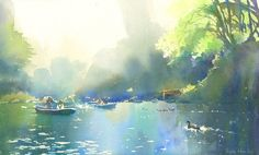 Art Of Watercolor: Kanta Harusaki Japan Watercolor, Watercolor Landscape, Abstract Watercolor, Watercolor And Ink, Watercolor Illustration, Watercolour Painting, Landscape Paintings, Kumamoto, Art Aquarelle