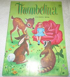 Vintage Thumbelina Coloring Book 1975 by shop2cuties on Etsy