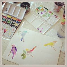 watercolor wip by @marinabarbato