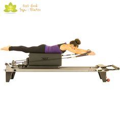 Breaststroke pilates reformer exercise 2