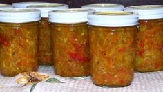 Make and share this Zucchini Relish recipe from Genius Kitchen. Zucchini Relish, Zucchini Squash, Squash Relish Canning Recipe, Zucchini Pickles, Zucchini Plants, Canning Salsa, Recipe Zucchini, Relish Recipes, Gourmet