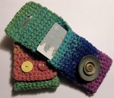 DIY Yarn Crafts: DIY Crafts: DIY Crocheted Gift Card Holders- Pattern
