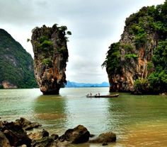 James Bond Island, Phuket, Thailand. You may have seen it it the 007 movie, the Man with the Golden Gun.  http://www.travelingwithmj.com/2013/11/postcard-james-bond-island-thailand/  #thailand #islands #movie
