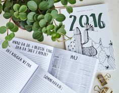 Calender 2016 by Kasia Lilja and Amalie Hentze