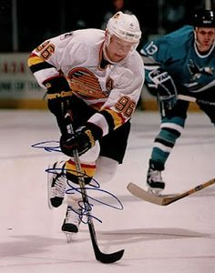Pavel Bure - the Russian Rocket, just retired his number. One of the best players ever to grace the Vancouver Canucks.