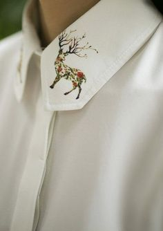 Deer collar shirt