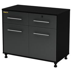 The perfect addition to your basement or garage, this essential cabinet features 2 drawers and 2 doors.    Product: Cabinet