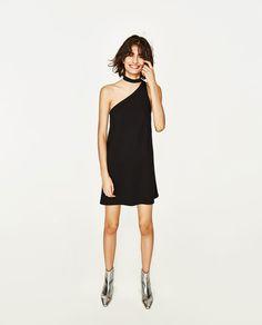 STRAIGHT-CUT DRESS WITH CHOKER-DRESSES-WOMAN | ZARA United States