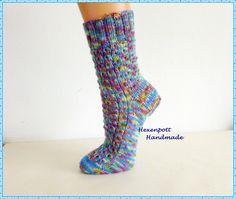 Socken -  Socken handgestrickt  SOMMER Gr.38-39 - ein Designerstück von Hexenpott bei DaWanda