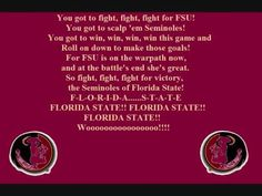 FSU - Florida State University Seminoles - fight song with words - FSU Fight Song