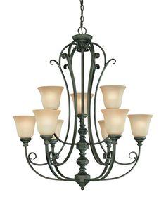 Craftmade 24229 Barrett Place Two Tier 9 Light Chandelier - 32.5 Inches Wide Mocha Bronze Indoor Lighting Chandeliers