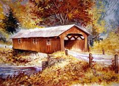 The Road Home by Jamie Carter ~ covered bridge ~ autumn