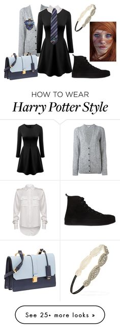 """""""Ravenclaw"""" by iluvcows1 on Polyvore featuring Kenzo, Ann Demeulemeester, Forever 21 and Miu Miu"""