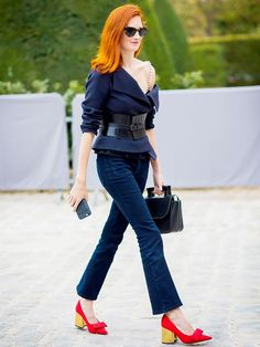 7 Rules for Wearing Cropped Flare Jeans via @WhoWhatWearUK