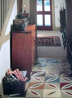 Prim Painted Wood Floor...